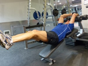 Lower Abs - Incline Legs Raise