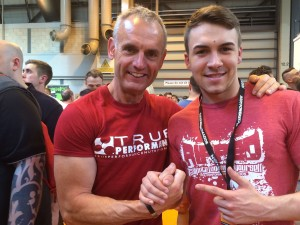 Chris meets Dan at BodyPower 2014
